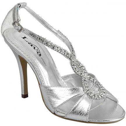Silver Color for High Heel Wedding Shoes