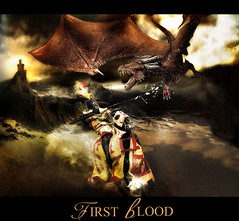 First Blood (MC BAILY) Tags: sky horse rescue mountains castle clouds fly chains blood wings ancient war colours ride post princess helmet flight feathers evil battle riding fantasy knight captive drama joust armour maiden atmospheric charging drago spear blindfold realm medievel mythical valor heraldic chivalry scalea