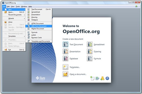 open office writer logo. with Open Office Writer