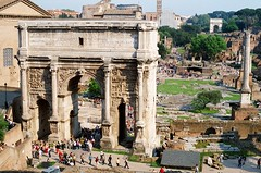 The arch of Septimius Severus, Rome (5telios) Tags: italy rome roma ancient italia arch roman forum el imperial 24mm nikkor romanforum nikkormat archoftitus archofseptimiusseverus septimiusseverus severus septimius columnofphocas nikkormatel imperialrome