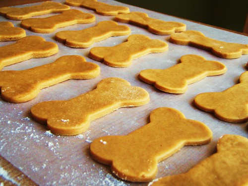 peanut butter dog treats in dog biscuit shapes - 09