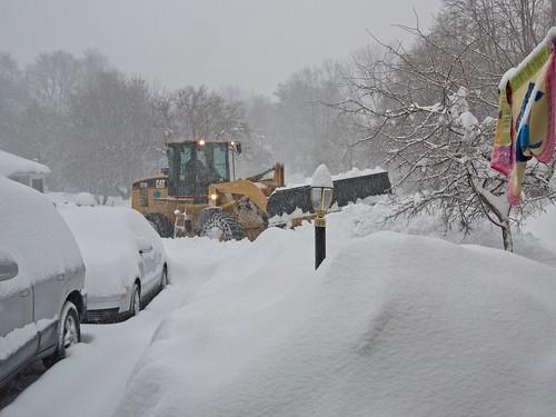 A snow plow!