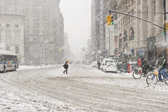 Crossing Court Street in the Snow, Downtown Brooklyn (Diacritical) Tags: newyorkcity snow weather brooklyn geotagged 2470mmf28 d700 geo:lat=40693752 geo:lon=73990356