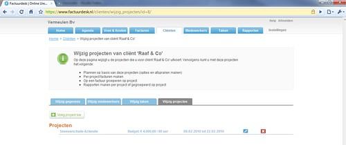 KLIK OM TE VERGROTEN: Fig. IV b - Reeds aangemaakte projecten bekijken of aanpassen (vervolgscherm)