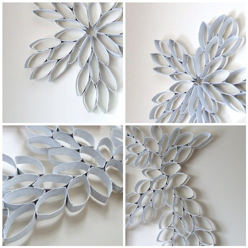 Project: Recycled TP Roll Wall Art Sculpture