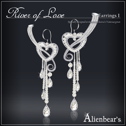 River of Love earrings I white