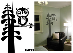 shicon & wotto wall decal (WOTTO*) Tags: trees wallpaper cute bird illustration vectorart character doodle owl characters illustrator decal tweet nightowl hoothoot walldecorations wotto shicon