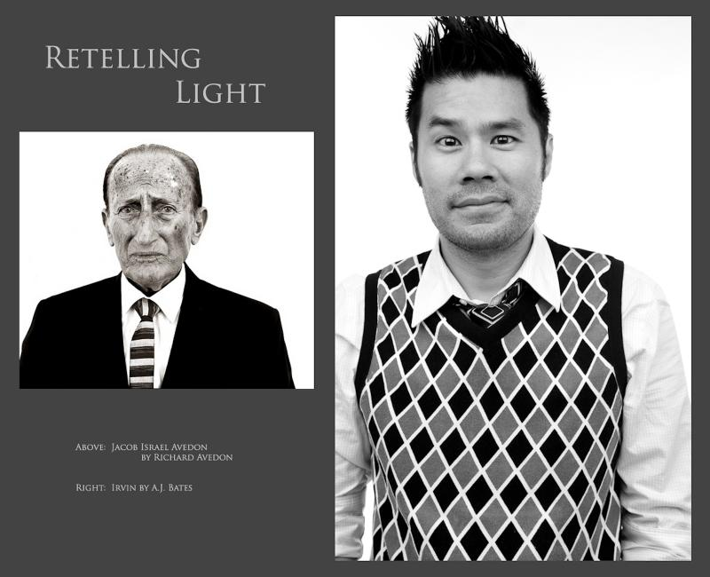 Retelling Light - Irvin, inspired by Avedon