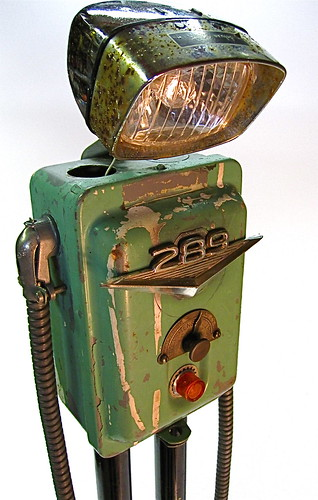 """even robot's get the blues"" found object metal art junk sculpture / ultrajunk"