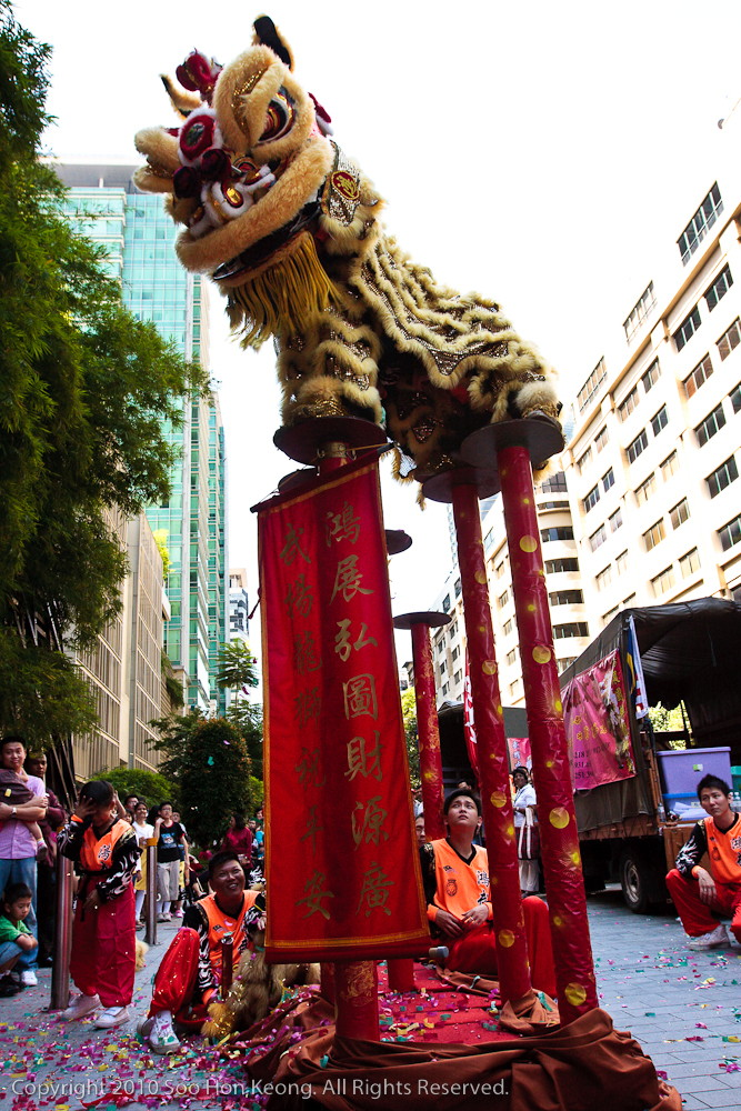Lion Dance @ Outside Mid Valley, KL, Malaysia