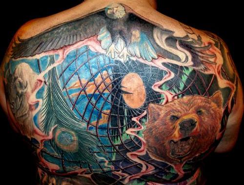 bald eagle tattoo. Back Piece tattoo