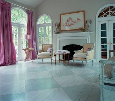 painted wood floors