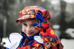 Next generation I (manganite) Tags: blue boy red portrait people color colors fashion photoshop cutout catchycolors germany children geotagged costume kid nikon colorful europe soft bonn glow child tl iso400 candid clown young festivals nrw cropped d200 f56 lightroom selectivecolor northrhinewestphalia nikond200 18200mmf3556 1800sec manganite colorefexpro date:day=15 1800secatf56 geo:lat=50733413 date:month=februar date:year=2010 carnivalbonn2010 geo:lon=7093582