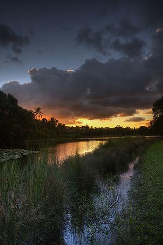 Centennial Park sunset