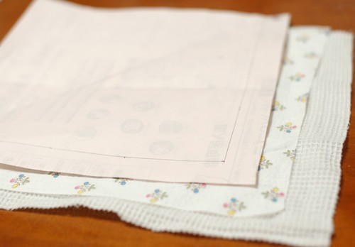 How to make a square bib 1