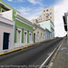 Steep Street in Old San Juan, Calle Norzagaray, Puerto Rico