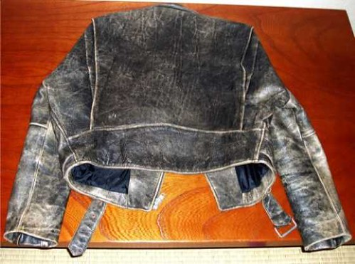 100% organic cow leather Jacket (back). Y40,000