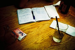 schemes of things (mela.de.gypsie) Tags: 35mm notebook table sketch lomo lca lomography crossprocess memories slidefilm planning drinks schemes 135 orangina marche woodgrain project365 onceagainilovehowfilmissosurprising thiswaswhenweweretryingtostartplanalvinandeuniceswedding