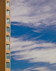Bay Lake Tower Abstract (Peter E. Lee) Tags: abstract clouds orlando bluesky fl wdw waltdisneyworld 2010 dvc contemporaryresort disneyphotochallenge baylaketower