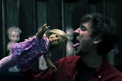 Consumer (Cullen Golden) Tags: girl photoshop dark golden dolls shadows creepy eat american edit consumer cullen