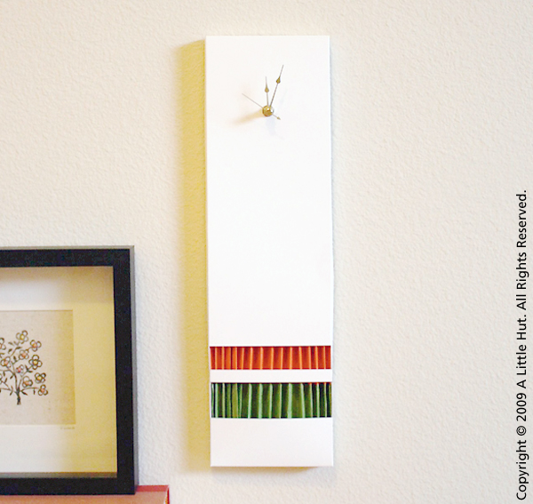 accordion paper clock
