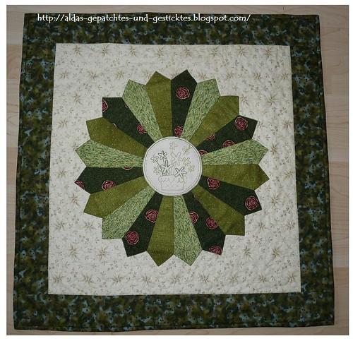 The Birdhouse-Daisypoi im Dresden Plate Quilt grün
