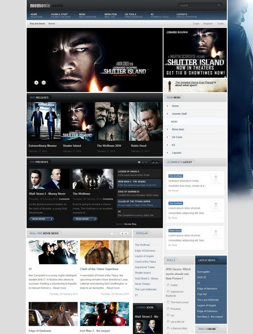 Memovie v1.1.1 Update � RocketTheme Template