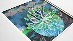 Sprout (rettgrayson) Tags: blue sky tree green leaves clouds paper underground screenprint acrylic map mixedmedia sewing roots gocco watercolour stitching beneath oilpastel rettgrayson lorettagrayson
