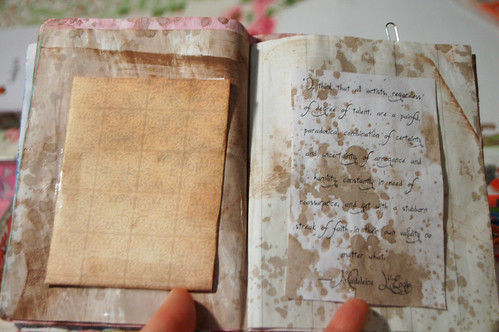 Gesso & walnut ink zine (Photo by iHanna - Hanna Andersson)