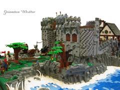 Grimmhavn (Tor von rechts) (THE BRICK TIME Team) Tags: brick castle lego bob medieval knight northland diorama medival burg westgate ritter moc afol mittelalter nordland dachkonstruktion thebricktime grimmhavn