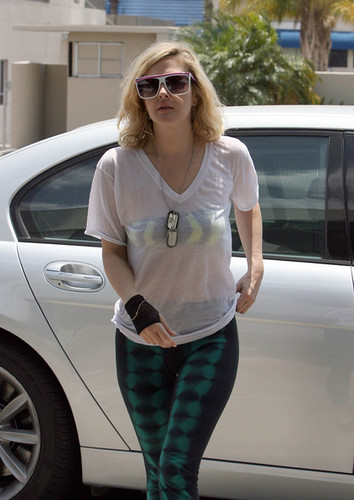 Drew Barrymore arrives at The Post Group studio's in Hollywood, CA