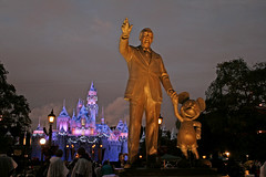 Walt Disney and Mickey - Disneyland Anaheim (California USA)