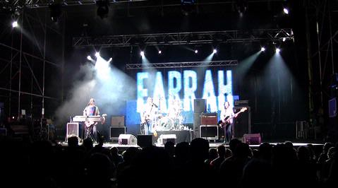 On stage at Vibrasons Festival, Pontevedra, Spain