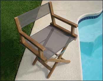 Teak Folding Director Chair