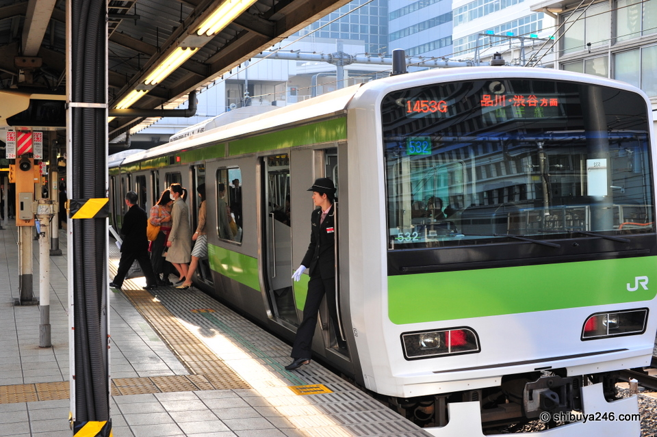 Female drivers on the Yamanote and other train lines are not uncommon now. It is good to see a mix of different people being employed, male, female, old, young and maybe even some foreign in the future.