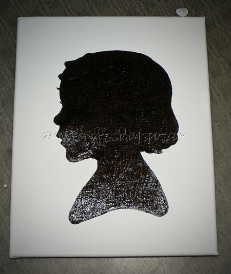 silhouette canvas painted stencil done