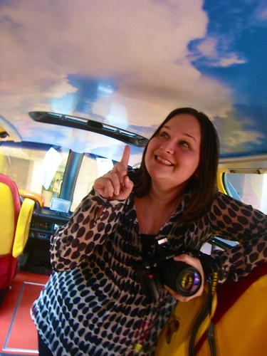 It's always blue skies and puffy clouds in the Wienermobile.