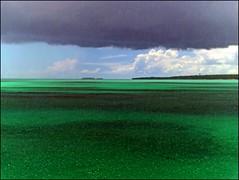 Zanzibar tropical shower (Z Eduardo...) Tags: blue seascape green water colors clouds tanzania island shower paradise tropical zanzibar raining ras indic nungwi mywinners