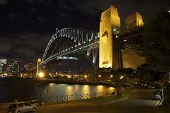 Sydney Harbour Bridge undergoing maintenance? (pablo808) Tags: longexposure bridge night canon paint arch harbour steel sydney australia maintenance coathanger sydneyharbourbridge kirribilli portjackson efs1755mmf28isusm canon50d