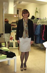 in the boutique (Marie-Christine.TV) Tags: lady tv dress feminine tgirl business suit boutique transvestite secretary feminin businesswoman mariechristine skirtsuit womans