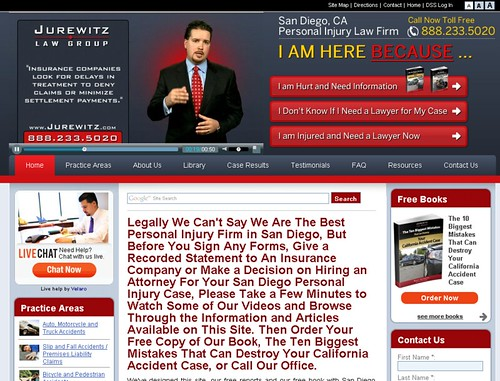 San Diego, CA car accident lawyer website