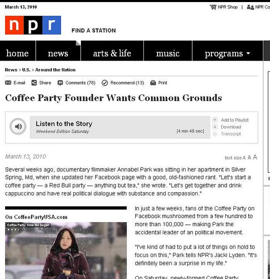 NPR Coffee Party