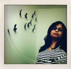 Me, my birds + my Gaultier dress