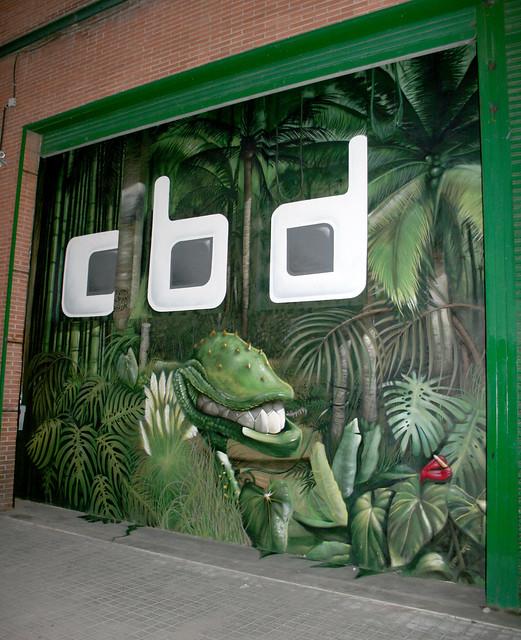 Graffiti en poble nou
