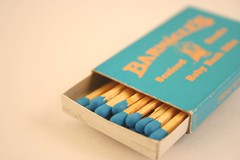 Matchbox & Matches (bmurphy502) Tags: blue color macro matches lightbox matchbox robinseggblue crayoncolors