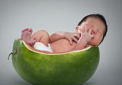water melon baby (DarioM_72) Tags: food baby fruit sydney australia watermelon newborn marco baba bambino neonato dariomilano