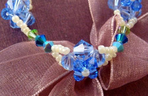 淺藍珍珠白鑽