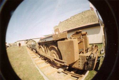 Fisheye mining locomotive