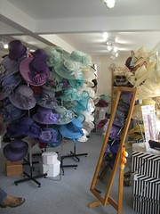 Louise Claire's millinery - blue green purple