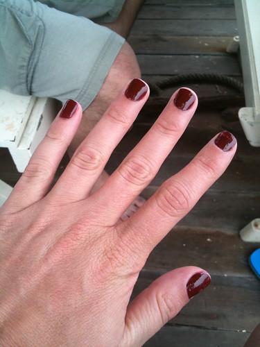 My boat manicure